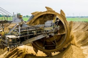 paddle-wheel-bucket-wheel-excavators-brown-coal-open-pit-mining
