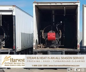 Steam and heat is